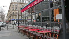 The streets and cozy cafes of Paris. France. Stock Footage