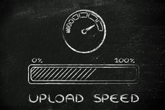 Internet and data transfer rate or speed Stock Illustration