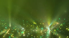 Animation of falling green glowing spheres - stock footage