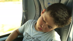 Sleepy young passanger 2 Stock Footage