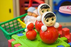 Toys in the children's playroom Stock Photos