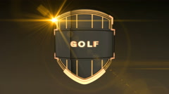 Golf - Orange Stock Footage