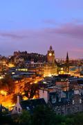Edinburgh night - stock photo