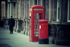 Edinburgh city street - stock photo