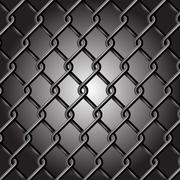 Chain Fence Vector Stock Illustration