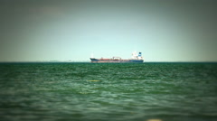 Tanker ship on route to open sea Arkistovideo