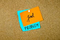 Find Problem written on paper notes Stock Photos
