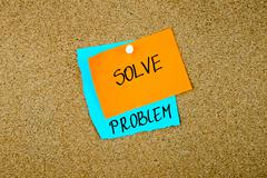Solve Problem written on paper notes - stock photo