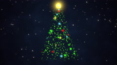 Colorful animated Christmas tree Stock Footage