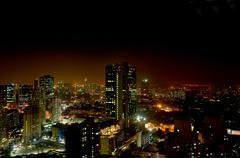 Mumbai nightscape - stock photo