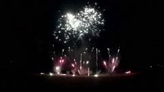 Fireworks closer view in Kiel, Germany Stock Footage