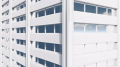 Abstract white high rise building exterior wall Close up 4K Stock Footage