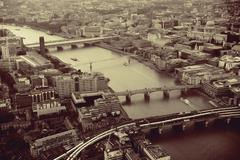 London aerial - stock photo