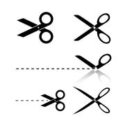 Scissors Template - stock illustration