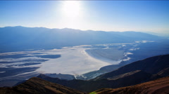 Time Lapse of Sunset over Badwater Salt Flat in Death Valley -Tilt Down- Stock Footage