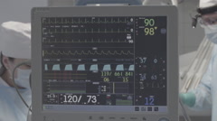 Drip with ECG monitor in operation room, not color corrected, good for color Arkistovideo