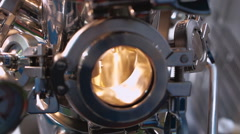 Laboratory vacuum mixer for science research in chemistry, physics, biology Stock Footage