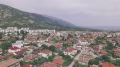 Gorgeous mountain town aerial UHD Stock Footage