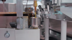 Industrial equipment for tinning the wire for its further mounting - stock footage