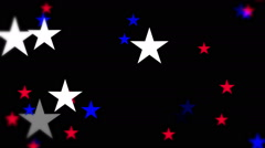 Red White Blue Stars - stock footage