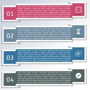 Elements of infographics, vector illustration. Stock Illustration