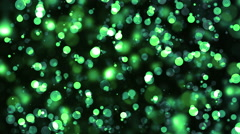 Green Colored fashion Particle Flow Stock Footage