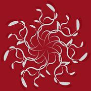 Abstract ornament on red background Stock Illustration