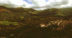 Time lapse of a small village between the Apennines in Tuscany, Italy. - stock footage