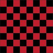 Red checkered board Stock Illustration