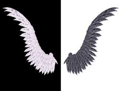 White and Black Wing Stock Illustration