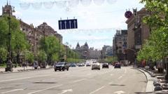 Timelapse on Khreshchatyk Stock Footage