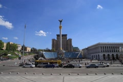 Timelapse on the square of Kiev Stock Footage