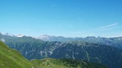 Mountain ridge in Italian Alps Stock Footage