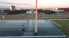 Aerial Memorial JK Eixo Monumental Brasília DF Stock Footage