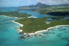 Ile aux Cerfrs Mauritius Stock Photos