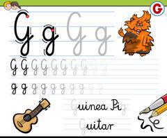 how to write letter g - stock illustration
