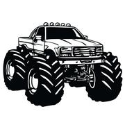 Monster Truck Cartoon Piirros