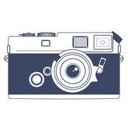 Vintage Camera Vector Clipart Art Stock Illustration