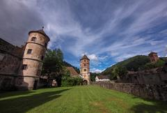 cloister calw in black forest - stock photo