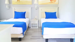 Beautiful Clean Room In Hotel 6 Stock Footage