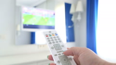 Channel Surfing With Tv Remote Control In Hand 2 Stock Footage