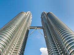KUALA LUMPUR, MALAYSIA - FEB 29: Petronas Twin Towers the famous landmark of  - stock photo