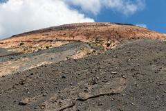 Top view volcano at Vulcano, Aeolian Islands near Sicily, Italy - stock photo