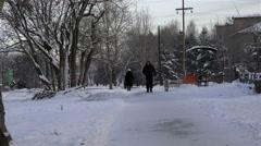 Russia, Kamchatka region, Milkovskii district, village Milkovo, Tomsk street Stock Footage