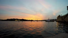 Sliema Sunset, Promenade, Mediterranean Sea, Republic of Malta, Real Time, 4k - stock footage