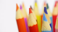 Top of color pencils. Stock Footage