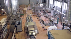 Factory inside. Production line. Pop and Soda, carbonated drink, factory line Stock Footage