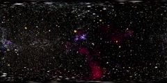 Virtual reality video of flying through star fields in space - 360 VR Space 3005 Stock Footage