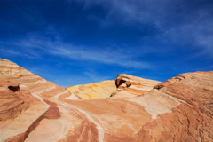5K Time Lapse of Sand Dune Fossile at Valley of Fire State Park in Nevada  Stock Footage