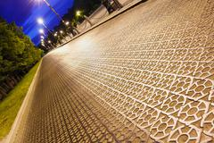 The cast-iron roadway of special checkers Stock Photos